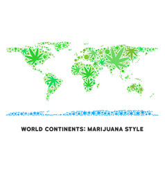 Royalty free marijuana leaves collage world vector