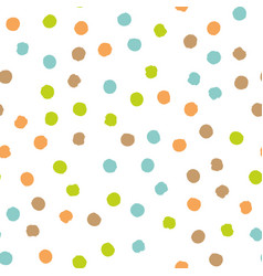 Scattered colorful brush dots seamless background vector