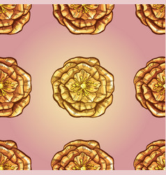 seamless pattern with beautiful yellow flowers vector image