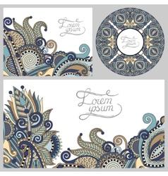 Set of floral decorative background template frame vector