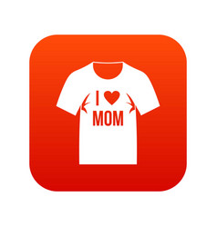 shirt with print icon digital red vector image