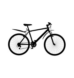silhouette of hardtail mountain bike vector image