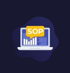 Sop standard operating procedure icon vector