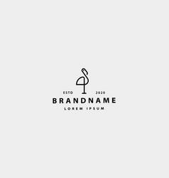 Stork bird logo icon design vector