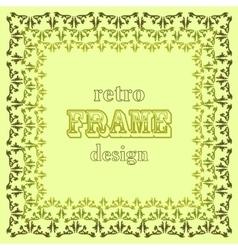 Stylised leaves frame on green background vector