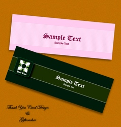 thank you card and gift voucher eps10 vector image