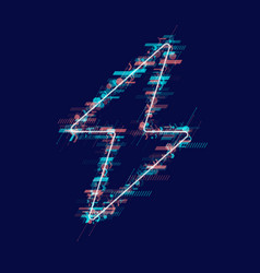 the sign of the energy the colored zipper of the vector image