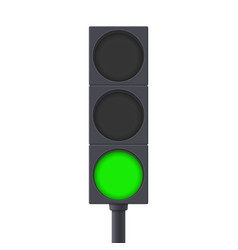 Traffic light green light on vector