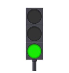 traffic light green light on vector image