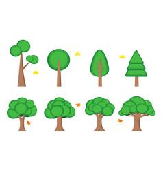 tree symbol icon element web game presentation vector image