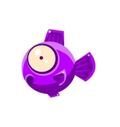 Violet Shocked Fantastic Aquarium Tropical Fish vector