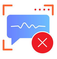 Voice recognition denied flat icon sound vector