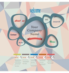 Web design template vector image