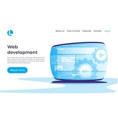 web development concept landing page vector image