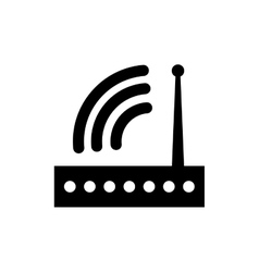 Wifi router technology vector