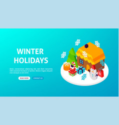 winter holidays banner vector image