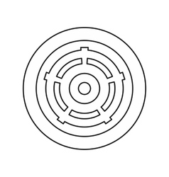 Car wheel icon outline style vector image