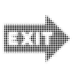 exit arrow halftone icon vector image