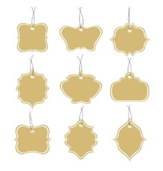 Paper tags collection isolated on white background vector image