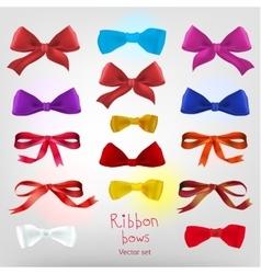 Ribbon red bow vector image