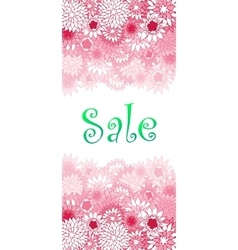 Sale concept background Word SALE made of pink vector image