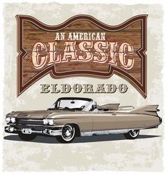 American classic eldorado vector