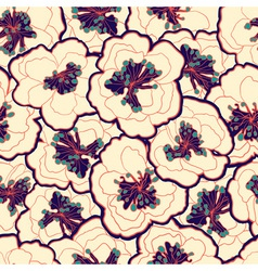 Beautiful vintage floral seamless pattern Garden vector image vector image