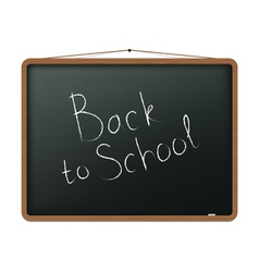 Blackboard with Back to school vector image vector image