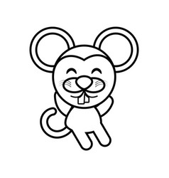 cartoon mouse animal outline vector image vector image