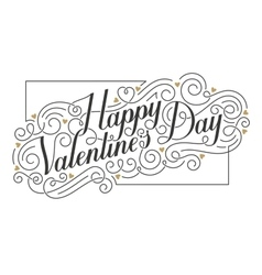 Happy Valentine s Day card Hand drawn vector image vector image