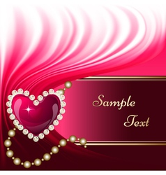 Jewelry heart background vector image vector image