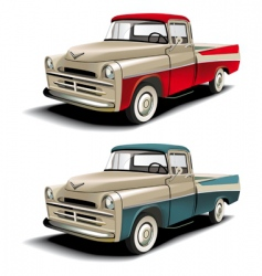 50s pickup vector image vector image