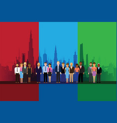 business people on a cityscape vector image vector image