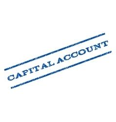 Capital account watermark stamp vector