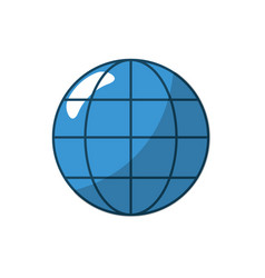 global symbol to data center connection vector image vector image