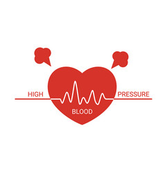 high blood pressure icon high blood pressure icon vector image