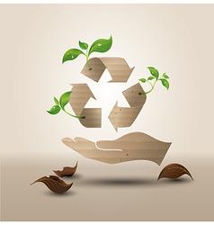 recyecle hand vector image vector image