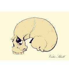 Retro Skull Profile vector image