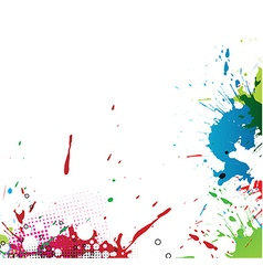 Colourful bright ink splat design vector image vector image
