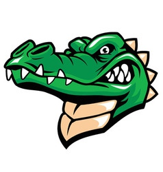 crocodile head mascot vector image vector image