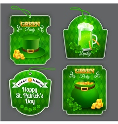 Green Party labels set vector image