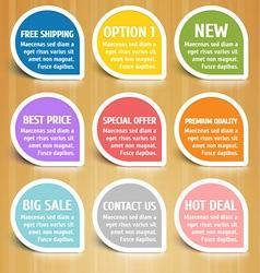 Labels Design Elements Set vector image