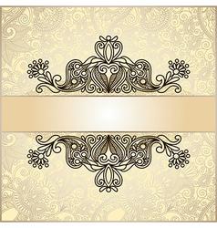 ornate floral vintage template vector image vector image