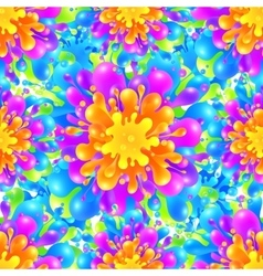 Rainbow vivid color paint splash seamless vector