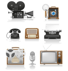 vintage and old art equipment 01 vector image
