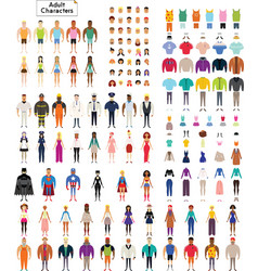 Adult Characters Collection vector