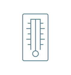 air temperature indicator linear icon concept air vector image