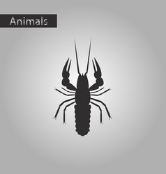 black and white style icon of lobster vector image