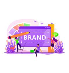Brand identity concept vector