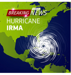 Breaking news tv realistic hurricane cyclone vector